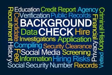 Background Check Word Cloud