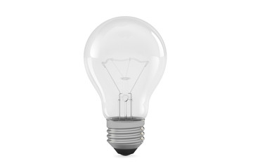 Lightbulb closeup, 3D rendering