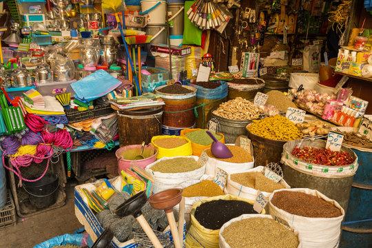 The market in Medina Fes, Morocco