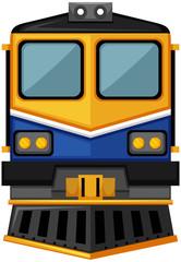 Modern train design on white background