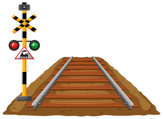 Railroad and traffic light for train