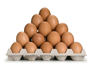 Pyramid from brown eggs