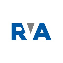 letter R and V and A logo vector