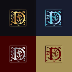 Letter D Decorative Logo