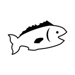 Fish sea animal symbol icon vector illustration graphic design