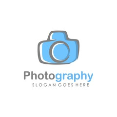 Camera logo design vector