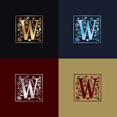 Letter W Decorative Logo