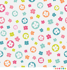 Cute floral pattern background