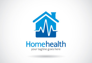 Home Health Logo Template Design Vector, Emblem, Design Concept, Creative Symbol, Icon
