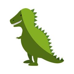 t-rex dinosaur toy icon vector illustration design