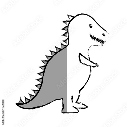 t-rex dinosaur toy icon vector illustration design