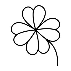 clover leaf isolated icon vector illustration design