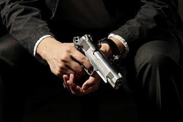 Man Holding Gun.