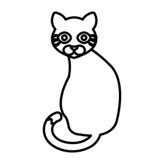 cat cute pet icon vector illustration design