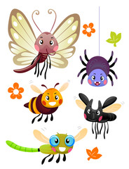 Cute Colorful Bugs Mascots