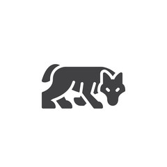 Wolf icon vector, filled flat sign, solid pictogram isolated on white. Symbol, logo illustration. Pixel perfect