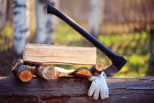 firewood ax rustic style work