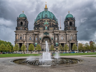 Cathedral Dom with fountain in Berlin