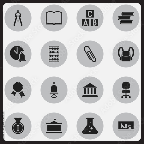 Set Of 16 Editable University Icons Includes Symbols Such As School