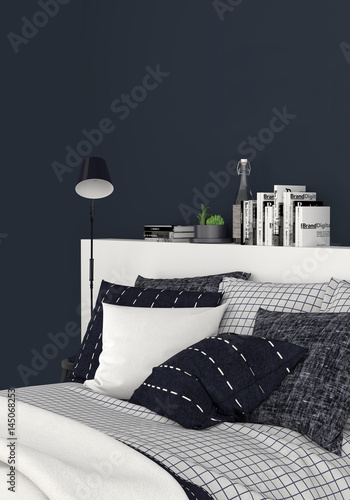 schlafzimmer boxspringbett doppelbett bett stockfotos. Black Bedroom Furniture Sets. Home Design Ideas