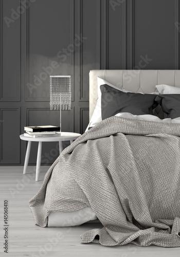 schlafzimmer boxspringbett doppelbett bett stockfotos und lizenzfreie bilder auf. Black Bedroom Furniture Sets. Home Design Ideas