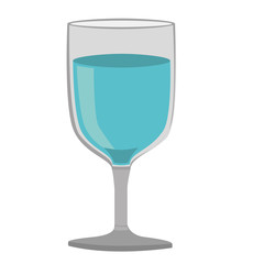 colorful silhouette of glass of wine with water vector illustration