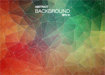 Flat abstract geometric colorful background