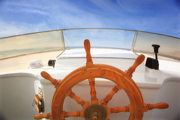 yacht helm sky yachting journey