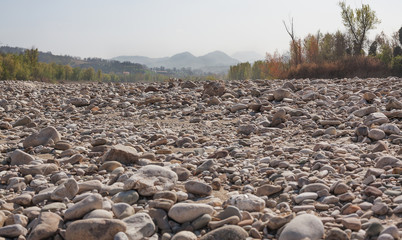 Channel of a dried-up river.