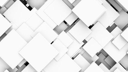 3D rendering Abstract geometric square background