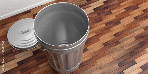 No Garbage On Floor : Quot trash can on a wooden floor d illustration imagens e