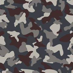 Camouflage seamless color pattern
