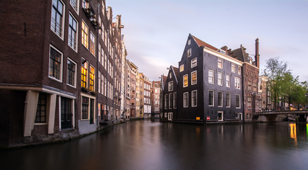 Buildings along the canals in Amsterdam