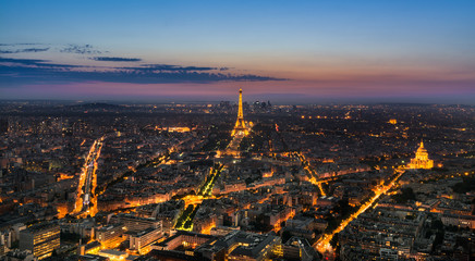 Sunset at the Eiffel tower, Paris, France