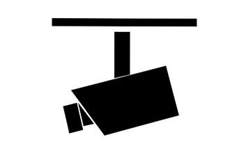 Videokamera Symbol auf weißem Hintergrund