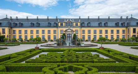HANNOVER, GERMANY - 31 July, 2015 : Grand Cascade in Royal Gardens of Herrenhausen in Hannover, Germany on 31 July , 2015