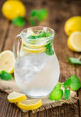 Lemonade (selective focus, close-up shot)