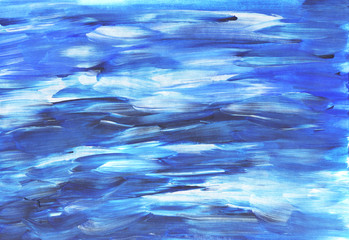 Abstract watercolor texture. Sea water.
