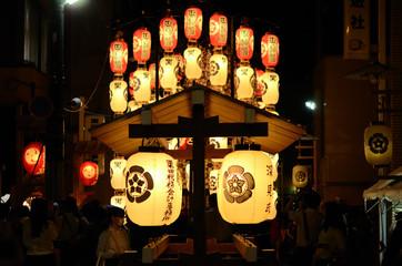 Lanterns of Gion festival, Kyoto Japan 祇園祭 宵山