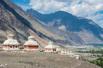 Buddhist stupa , Ladakh, India