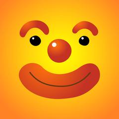 Vector illustration of clown's face