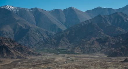 View of  Mountain Range Landscape, Leh Ladakh , India