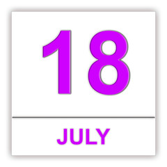 July 18. Day on the calendar.