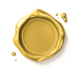 Golden seal (includes clipping path)