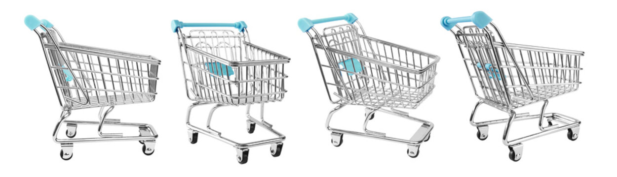 shopping supermarket cart, CLIPPING PATHS included