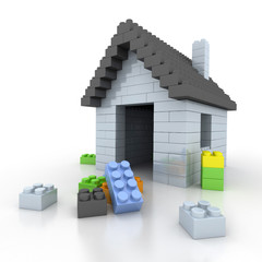 Home of plastic bricks