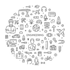 Round line web concept for engineering