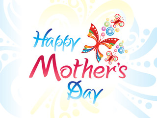 abstract artistic colorful mothers day background