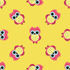 seamless cute owl pattern vector illustration