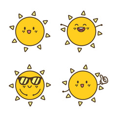 Cute Sun Character Cartoon